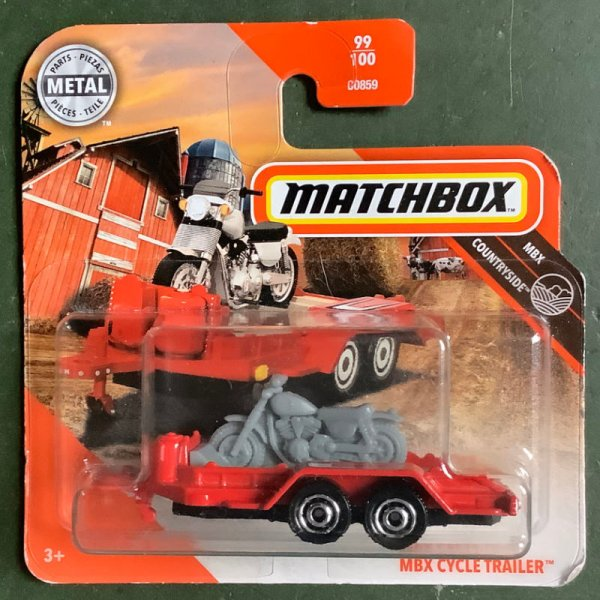 Matchbox | MBX Cycle Trailer with motor bike