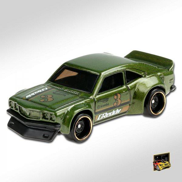 Hot Wheels | Mazda RX-3 dark green metallic