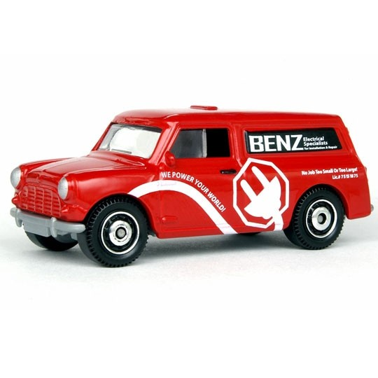 Matchbox | Austin Mini Van Benz rot