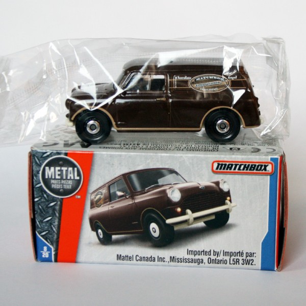 Matchbox | Austin Mini Van Chocolate Royal Power Grabs