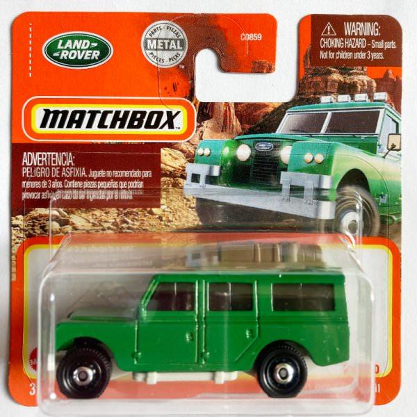 Matchbox | '65 Land Rover Gen II grün Gepäck mit Kisten