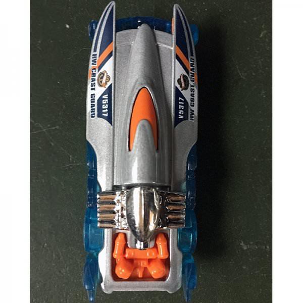 Hot Wheels   Mad Splash, silber/orange/blau, ohne Verpackung