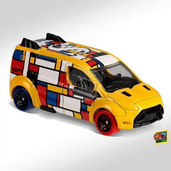Hot Wheels | Ford Transit Connect ART CAR gelb ohne Verpackung