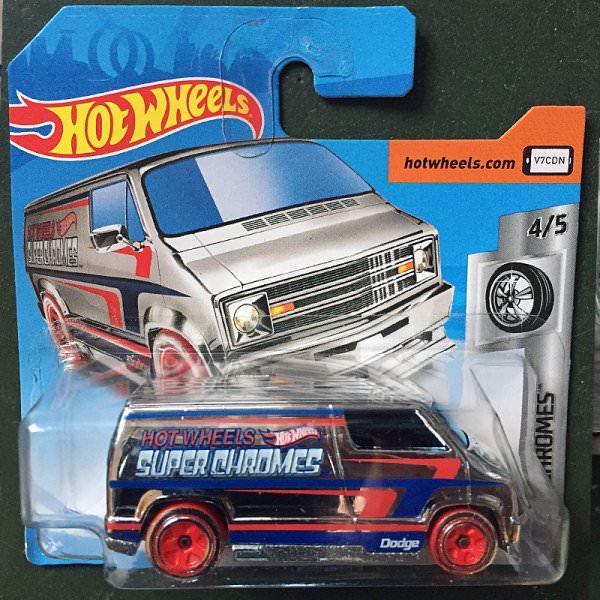 Hot Wheels   '77 Dodge Van Super Chromes silber