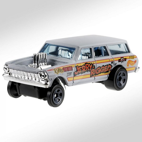 Hot Wheels | '64 Chevy Nova Wagon Gasser JERRY RIGGER matt grau