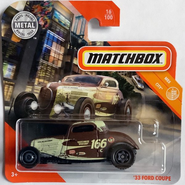 Matchbox | '33 Ford Coupe Hot Rod #166 brown