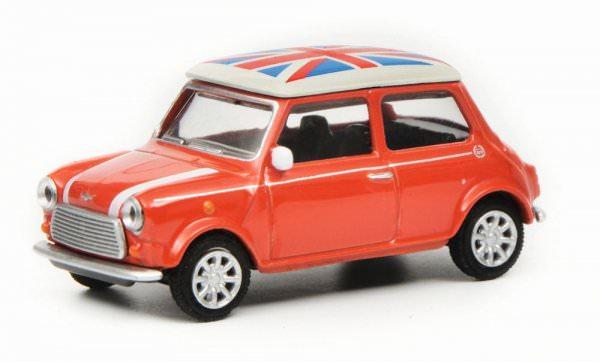 Schuco   Mini Cooper mit Union Jack Dach rot