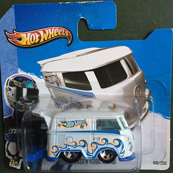 Hot Wheels | Kool Kombi weiß, blaue Bodenplatte
