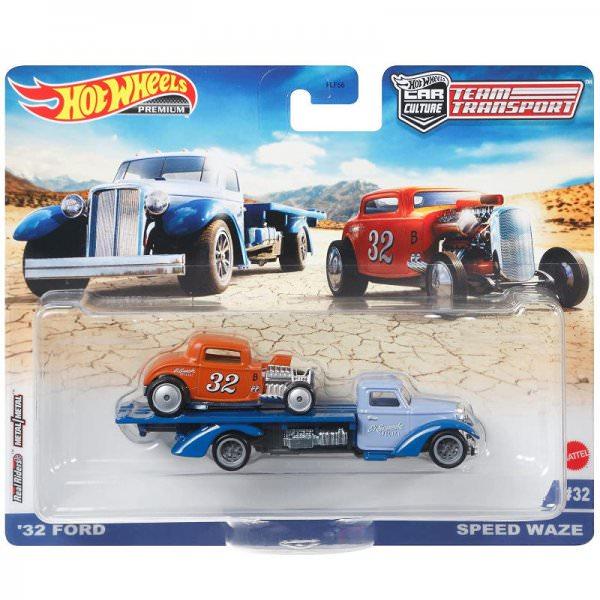 Hot Wheels | Car Culture Team Transport #32 '32 Ford orange & Speed Waze hellblau
