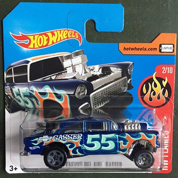 Hot Wheels | Chevy Bel Air Gasser blaumetallic Flammen
