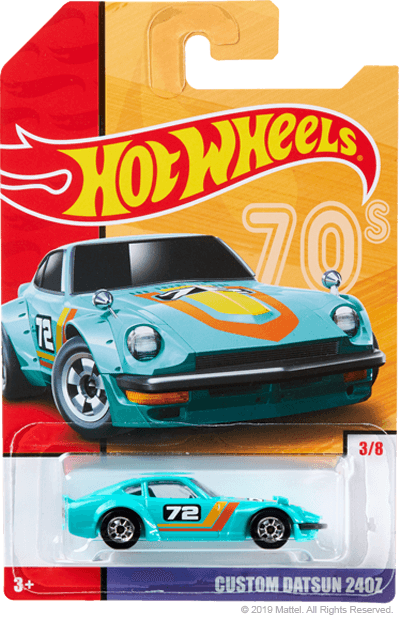 Hot Wheels Target Throwback Editions 03 Datsun Custom 240z Turkis 72 Scale64
