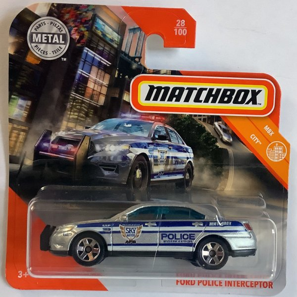 Matchbox | Ford Interceptor Police silver