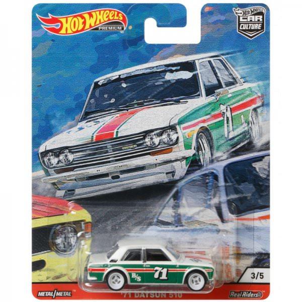 Hot Wheels | '71 Datsun 510 #71 weiß/grün