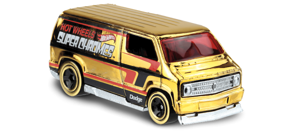 Hot Wheels | '77 Dodge Van Super Chromes gold