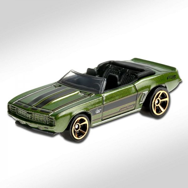 Hot Wheels | '69 Camaro convertible green metallic