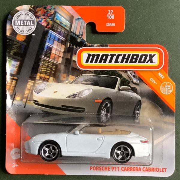 Matchbox | Porsche 911 Carrera Cabriolet weißmetallic