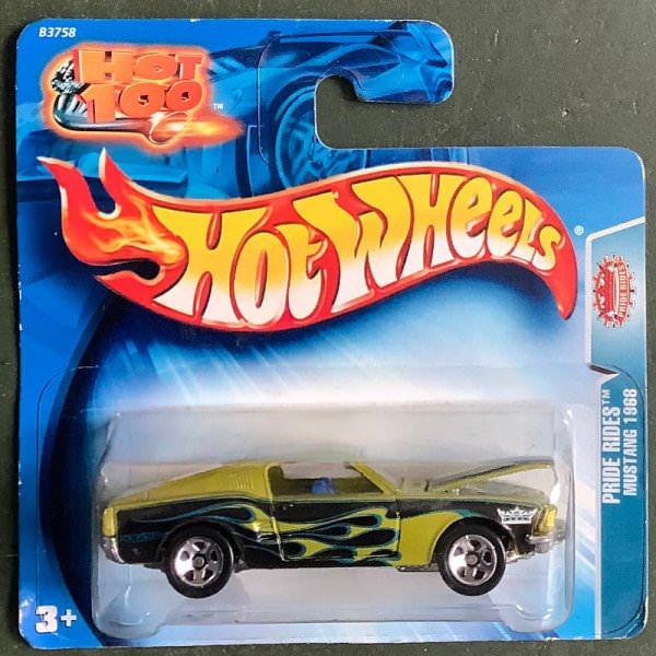 Hot Wheels | Pride Rides Mustang 1968 yellow-green metallic