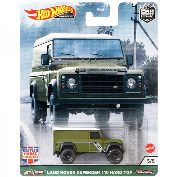 Hot Wheels | British Horse Power #05 Land Rover Defender 110 Hard Top olive