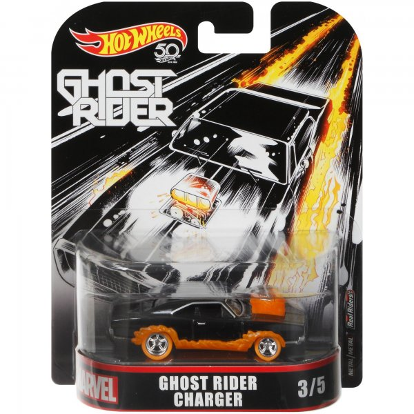 Hot Wheels | Ghost Rider Charger black/orange