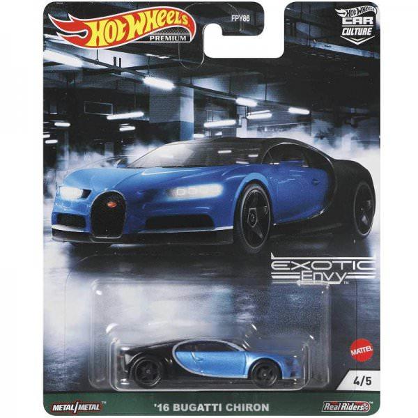Hot Wheels | '16 Bugatti Chiron blau/schwarz Exotic Envy