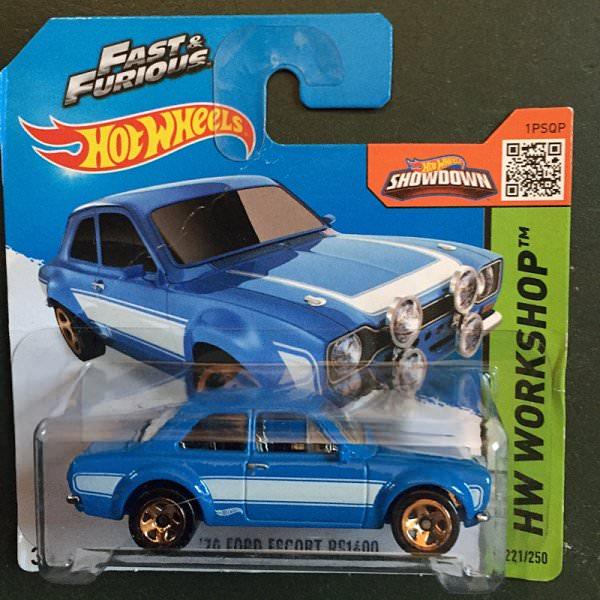 Hot Wheels | Ford Escort RS1600 blau