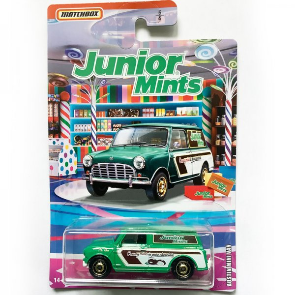 "Matchbox | Austin Mini Van ""Junior Mints"" Candy Series 2019"