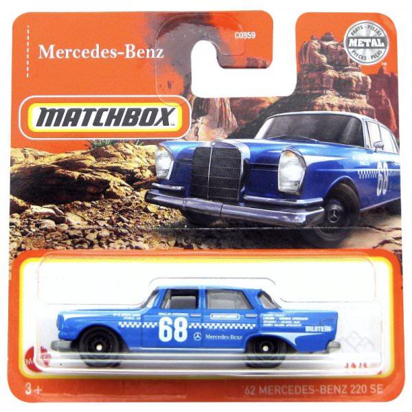 Matchbox   '62 Mercedes Benz 220 SE Sedan #68 blau / weiß