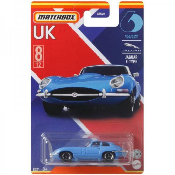 Matchbox | Best of UK Serie Mix 2 08/12 Jaguar E-Type hellblau