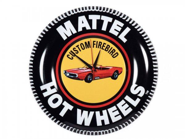 Auto World   Hot Wheels Button Tin Wall Clock Custom Firebird