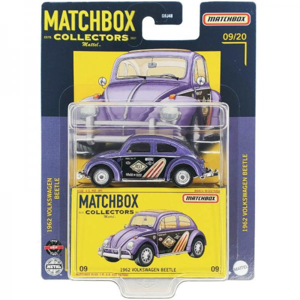 Matchbox | Collectors Serie 09/20 1962 Volkswagen Beetle lila