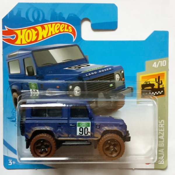 Hot Wheels | Land Rover Defender 90 matt blau