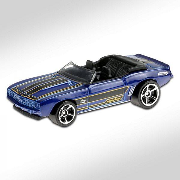 Hot Wheels | '69 Camaro convertible blue metallic