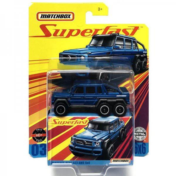 Matchbox | Superfast Mercedes-Benz G63 AMG 6x6 blue