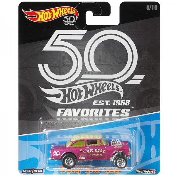 Hot Wheels | 50th Favorites '55 Chevy Bel Air Gasser pink