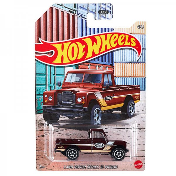 Hot Wheels   Land Rover Series III dark red