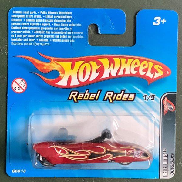 Hot Wheels | Rebel Rides 1/5 Outsiders dark red metallic